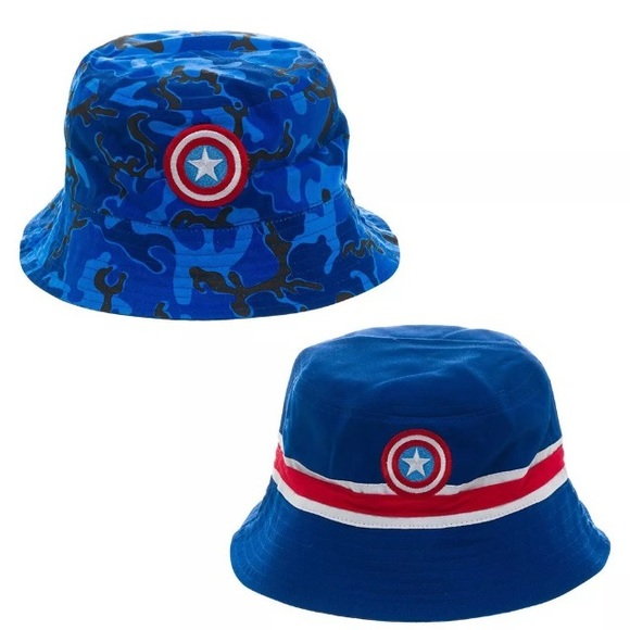 Captain America Logo Adult Bucket Hat -Reversible 8355565f792
